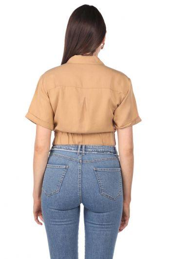 Markapia Crop Kadın Ceket - Thumbnail