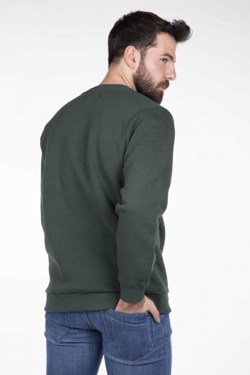 Markapia Crew Neck Printed Sweatshirt - Thumbnail