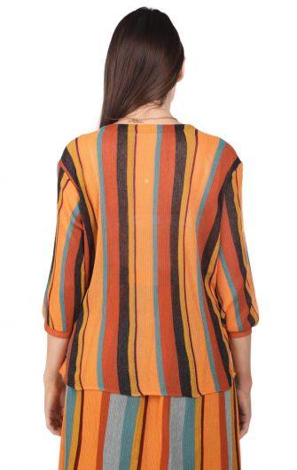 MARKAPIA WOMAN - Markapia Dikey Çizgili Bluz (1)