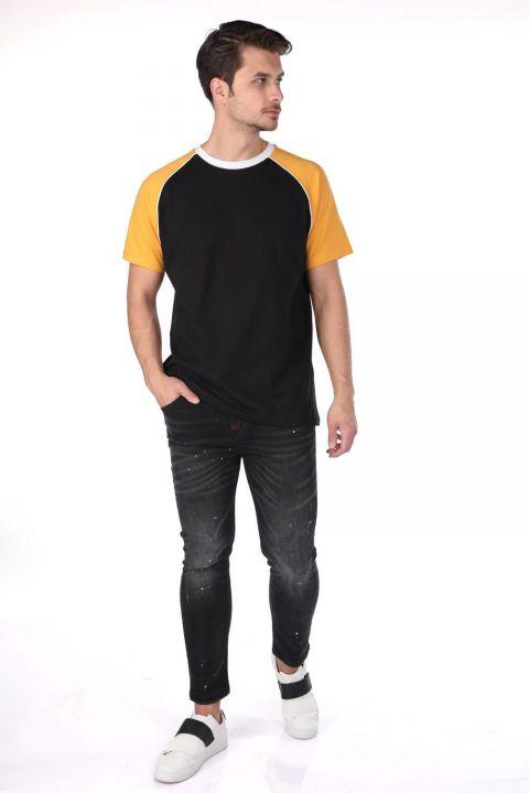 Markapia Erkek İki Renkli Bisiklet Yaka T-Shirt
