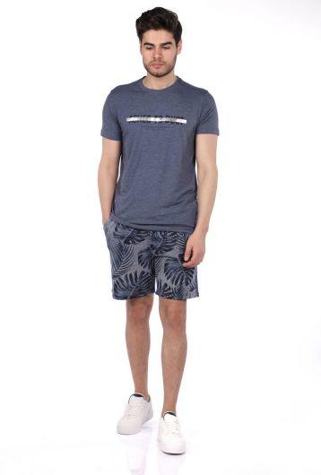 Мужские шорты Markapia с цветочным узором - Thumbnail