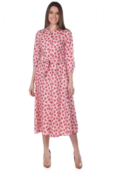 فستان قميص بنقشة زهور من ماركابيا