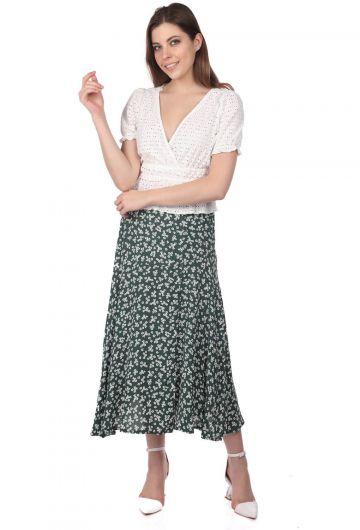 تنورة ميدي بطبعة زهور من ماركابيا - Thumbnail