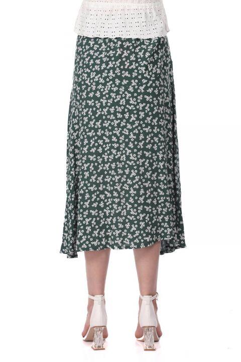 تنورة ميدي بطبعة زهور من ماركابيا