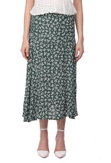 Markapia Floral Print Midi Skirt - Thumbnail