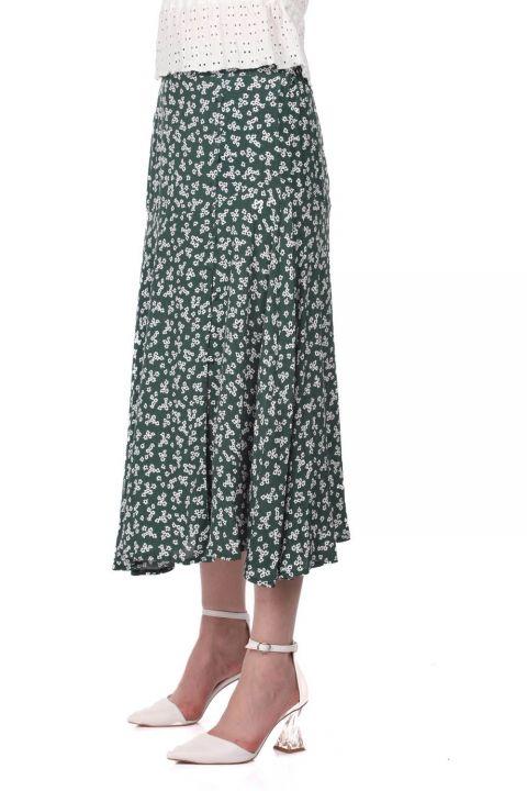 Markapia Floral Print Midi Skirt