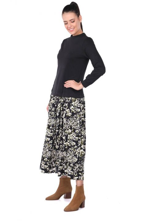 Markapia Garnili Desenli Elbise