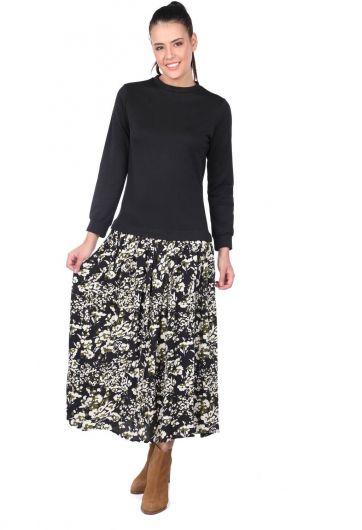 Платье с рисунком «Маркапия» с гарниром - Thumbnail