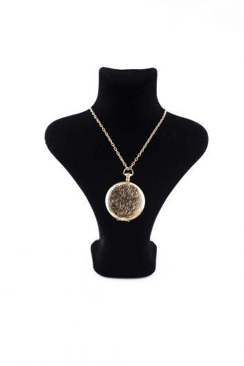 Markapia Gold Plated Locket Necklace - Thumbnail