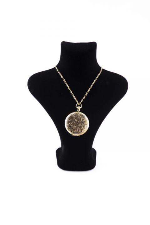 Позолоченное колье-медальон Markapia