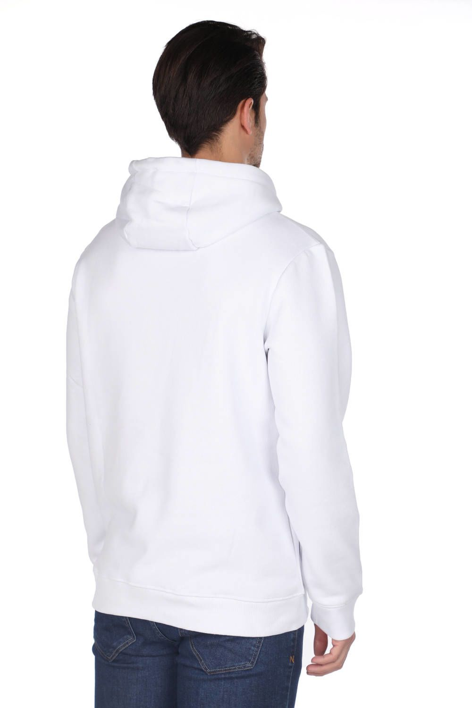 Белая мужская толстовка с капюшоном Markapia