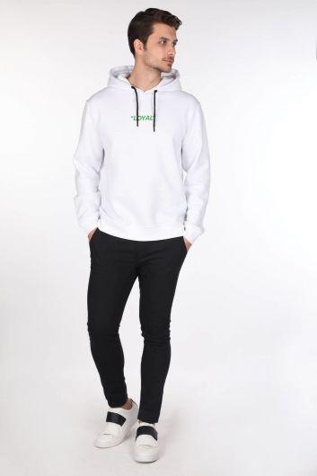 Markapia Green Printed Hoodie Sweatshirt - Thumbnail