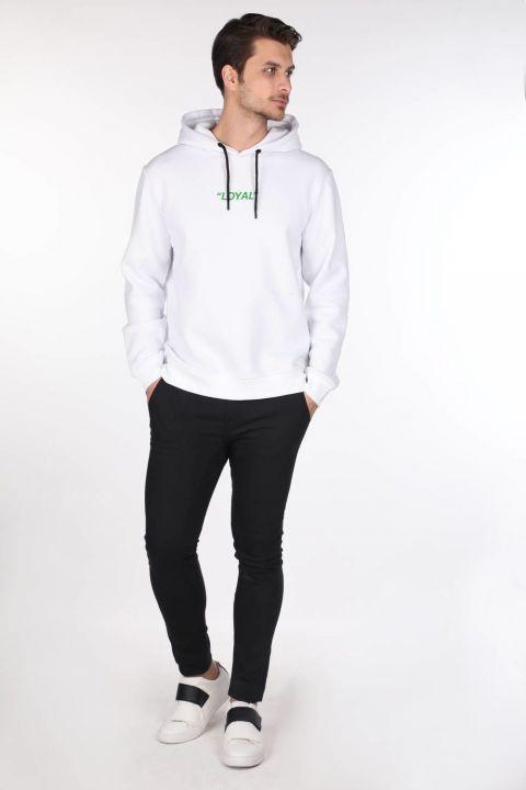Markapia Green Printed Hoodie Sweatshirt