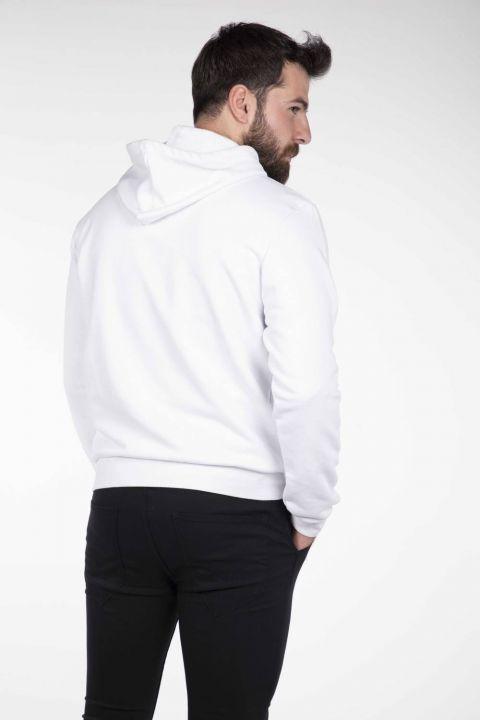 Markapia Hooded White Sweatshirt