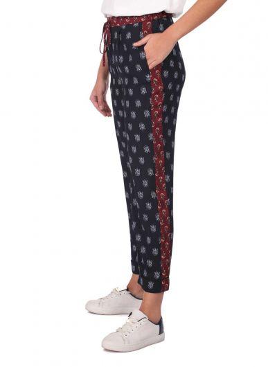 MARKAPIA WOMAN - Markapia Kadın Lacivert Desenli Pantolon (1)