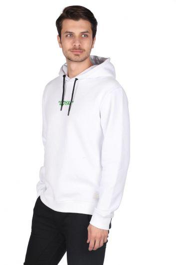 MARKAPIA MAN - Markapia Yeşil Baskılı Kapüşonlu Sweatshirt (1)