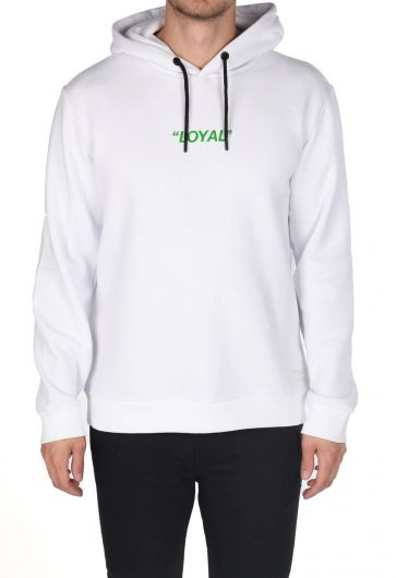 Markapia Yeşil Baskılı Kapüşonlu Sweatshirt - Thumbnail