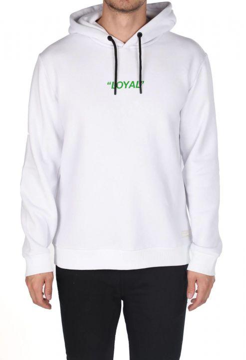Markapia Yeşil Baskılı Kapüşonlu Sweatshirt