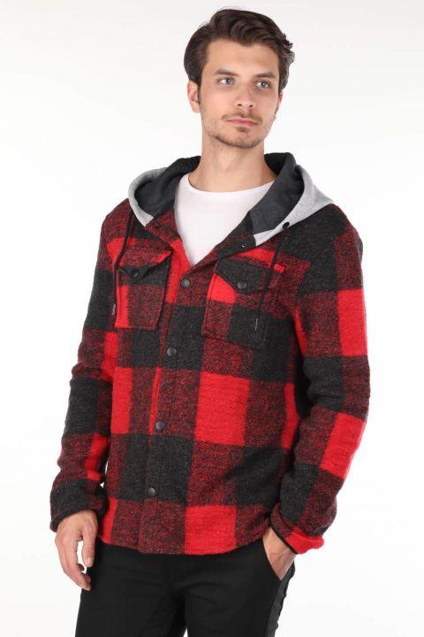 Markapia Kapüşonlu Triko Ceket