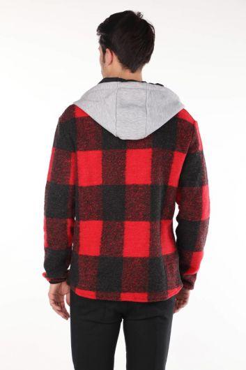 Markapia Kapüşonlu Gömlek Ceket - Thumbnail