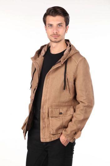MARKAPIA MAN - Мужская джинсовая куртка Markapia с капюшоном (1)