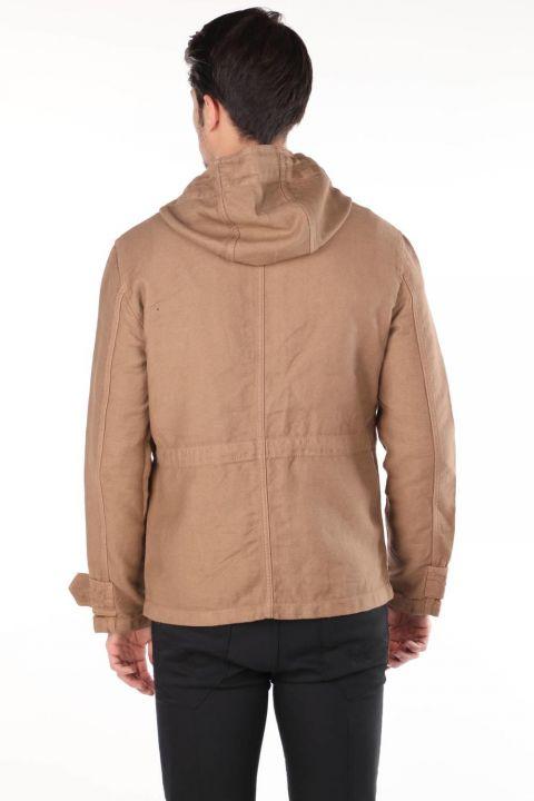 Мужская джинсовая куртка Markapia с капюшоном
