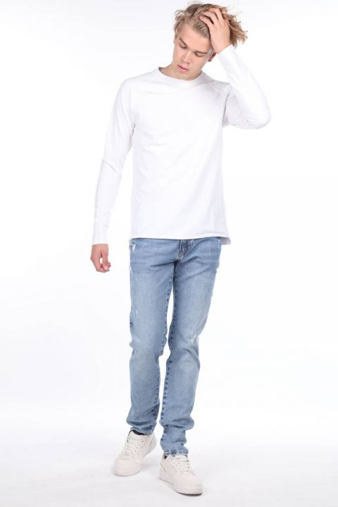 Мужские синие джинсовые брюки со средней талией Markapia