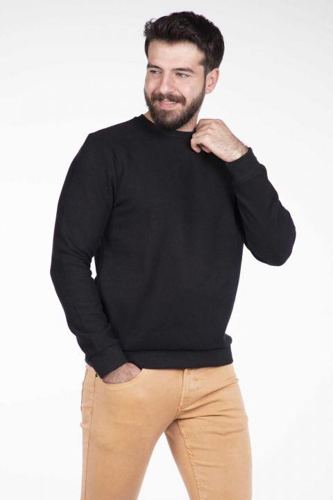 Серый мужской свитер с круглым вырезом Markapia