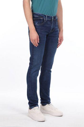 بنطلون جينز أزرق كحلي للرجال من ماركابيا - Thumbnail