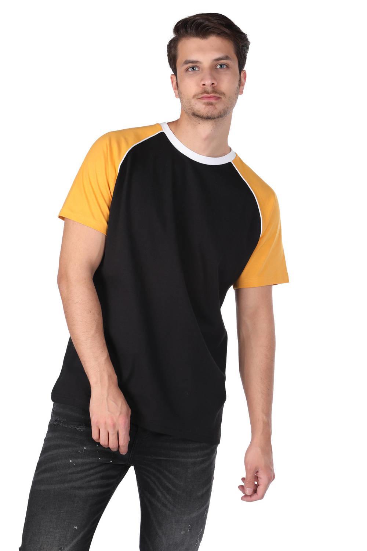 Двухцветная мужская футболка с круглым вырезом Markapia