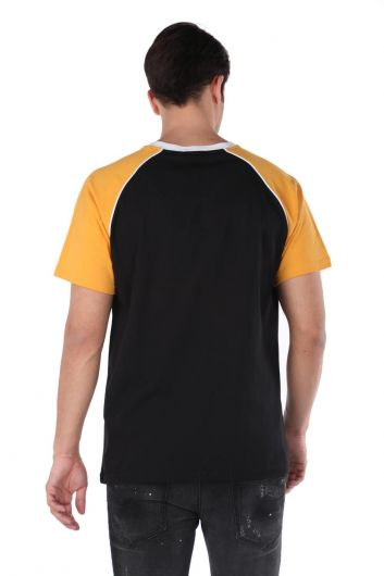 Двухцветная мужская футболка с круглым вырезом Markapia - Thumbnail