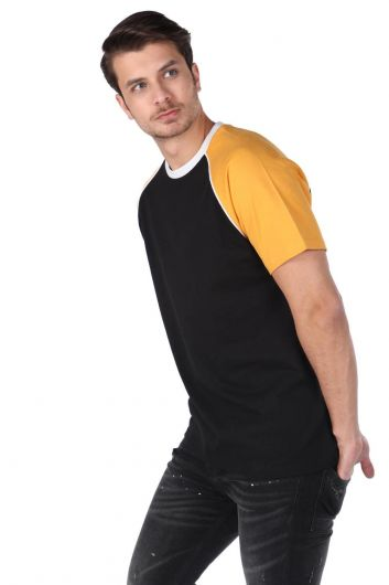 MARKAPIA MAN - Markapia Men's Two-Color Crew Neck T-Shirt (1)