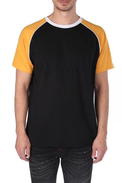 Markapia Men's Two-Color Crew Neck T-Shirt