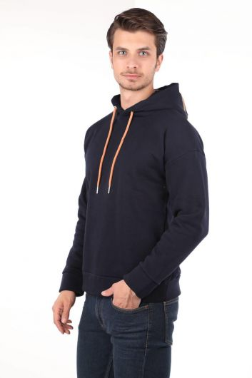 MARKAPIA MAN - Markapia Navy Blue Hooded Sweatshirt (1)