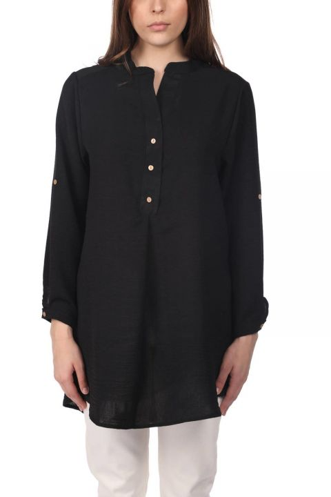 Markapia Oversize Button Detailed Women's Blouse