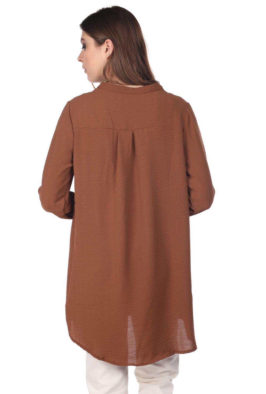 Markapia Oversıze Düğme Detaylı Kadın Bluz