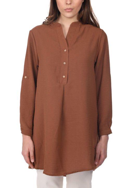 Markapia Oversize Düğme Detaylı Kadın Bluz