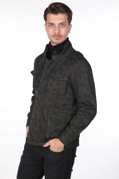 Мужская джинсовая куртка с рисунком Markapia