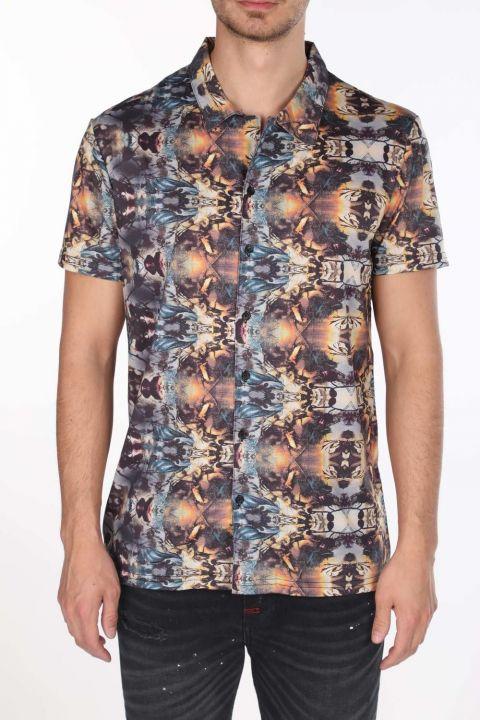 Markapia Patterned Short Sleeve Shirt