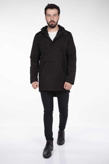 Мужская прямая куртка с капюшоном Markapia - Thumbnail