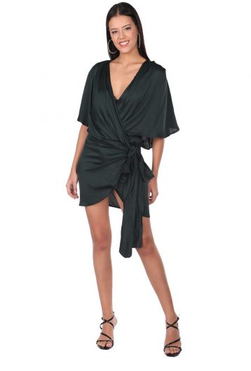 MARKAPIA WOMAN - Атласное прямое платье Markapia (1)