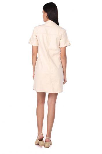 Джинсовое платье с короткими рукавами Markapia - Thumbnail