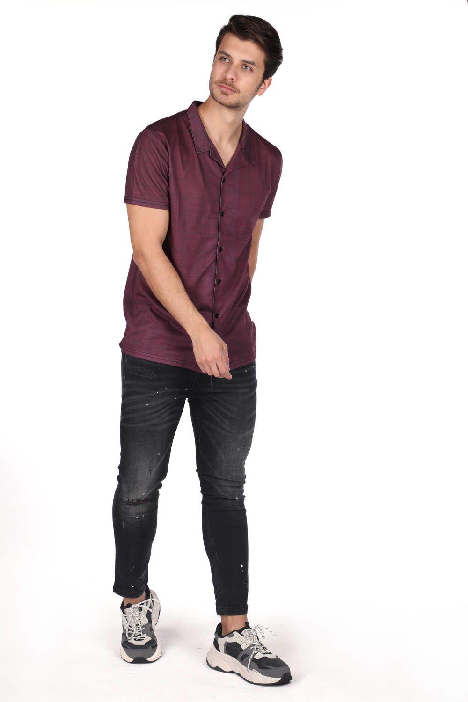 Рубашка мужская скоротким рукавомMarkapia