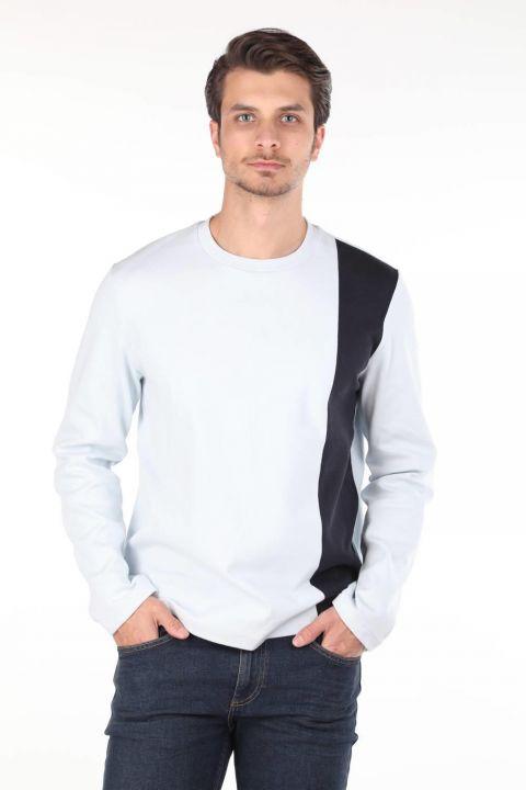 Markapia Siyah Şeritli Uzun Kollu Bisiklet Yaka T-shirt