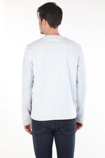 MARKAPIA MAN - Черная футболка с круглым вырезом и длинным рукавом в полоску Markapia (1)
