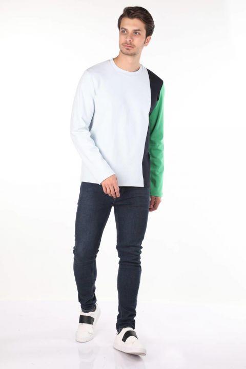 Markapia Yeşil Uzun Kollu Erkek Bisiklet Yaka T-shirt