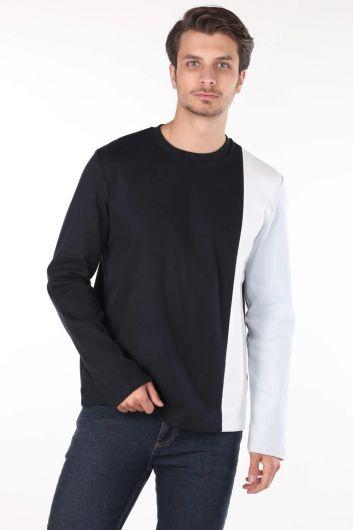 Markapia Erkek Uzun Kollu Bisiklet Yaka T-shirt - Thumbnail
