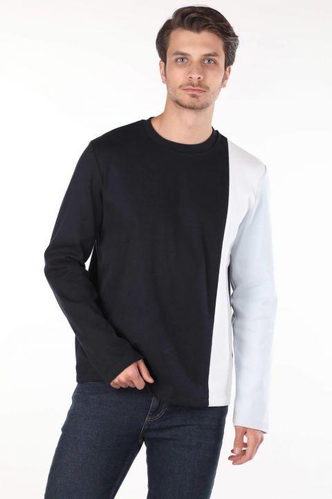 Markapia Erkek Uzun Kollu Bisiklet Yaka T-shirt