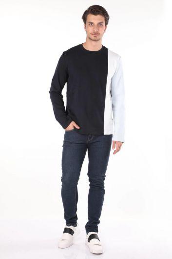 MARKAPIA MAN - Markapia Men's Long Sleeve Crew Neck T-shirt (1)