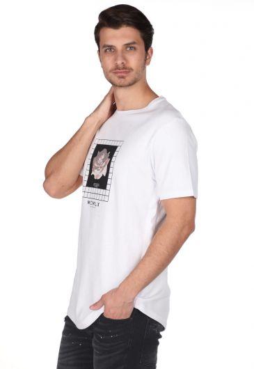 MARKAPIA MAN - Markapia Çiçek Baskılı Bisiklet Yaka T-Shirt (1)